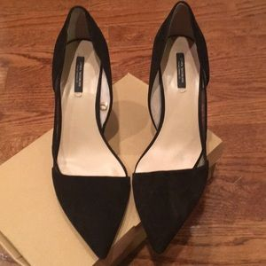 Zara suede D' orsay heel